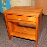 Noční stolek Portos - masiv borovice